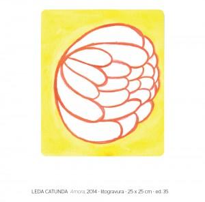 Leda Catunda - Amora, 2014 - litogravura - ed. 35